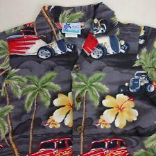 RJC Boys Size 5 Short Sleeve Hawaiian Floral Cars Button Shirt OO4