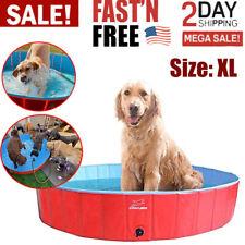 Foldable Dog & Kids Swimming Pool Portable PVC Pet Bathing Tub Summer Outdoor