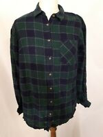 A New Day Brushed Cotton Flannel Shirt - Size S - Blue & Green Mix - Check