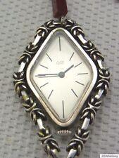 Eine schöne Halskettenuhr 835/-Silber Cito Carneol