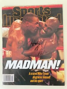 SPORTS ILLUSTRATED July 7, 1997 TYSON BITES HOLYFIELD Autograph Signed NO LABEL