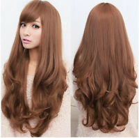 3 Colors Fashion Womens Long Curly Wavy Full Wigs Hair Cosplay Costume Party Wig