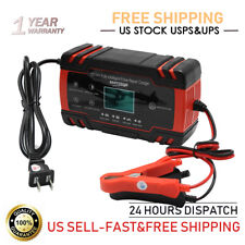 12V Car Battery Charger Maintainer Auto Trickle RV for Car Motorcycle Lawn Mower