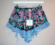 Angel Biba Brand Women's HOBO Floral Elastic Waist Shorts Size 10 BNWT #TL71