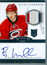 2013-14 DOMINION ELIAS LINDHOLM ROOKIE RC /99 AUTO 4 COLOUR PATCH    HURRICANES