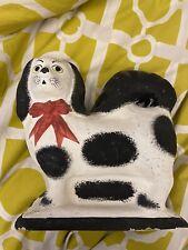 New listing Hand Made Paper Mache Or Papier-mâché dog Figure Folk Art