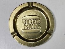 Vintage Burger King Fast Food Restaurant Collectible Antique Gold Ashtray 3-1/2""