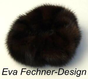 Mink Hair Bands Fur Bracelet Cuff Hair Jewelry Hairstyle Dark Mink Coffee