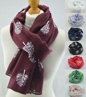 New Mulberry Tree Metallic Silver Foil Scarf Women Ladies Fashion Wrap Soft Gift
