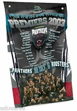 NRL Penrith Panthers Past Premiers Wall Flag