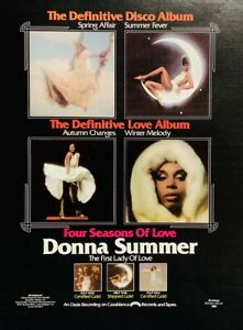 DONNA SUMMER 1976 vintage POSTER ADVERT FOUR SEASONS OF LOVE Giorgio Moroder