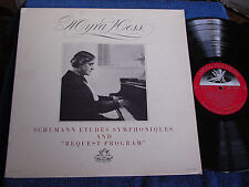 Myra Hess/Solo Piano/Schumann Etudes & Requests/Angel 35591/EX+ to M-