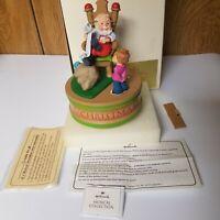 1984 Hallmark Musical Collection Santa And Child Christmas Music Box Holiday 84