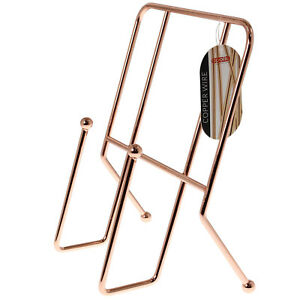 Metal Copper Cook Book Stand Holder Cooking Baking Recipe Holder Display Stand