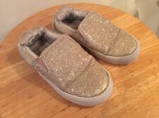 Stuart Weitzman Girls Slip-On Shoe Metallic Gold Sz 9 M