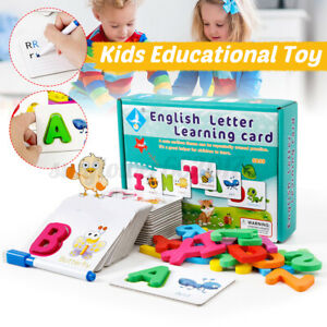 Puzzle Alphabet Letters Animal Cards Baby Kids Children Educational Learning T
