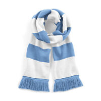 Sky Blue & White Coventry City FC Traditional Retro Football Varsity Bar Scarf