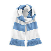 Sky Blue & White Retro Football Club Bar Scarf IN Manchester Man City Colours
