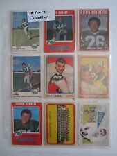 RARE (14) 1960'S CANADIAN FOOTBALL LEAGUE CFL CARDS - ROUGH RIDERS - TUB BN-2