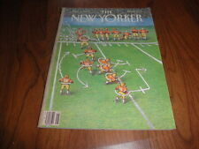 "NEW YORKER MAGAZINE-""Football Game Plan"" JOHN O'BRIEN Cover-Near Mint-1989"