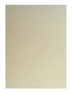 30 A4 Zanders Zeta Gehämmert Texturiert Geprägt Elfenbein Creme Dick Card 260GSM