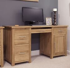Eton solid oak modern furniture large office PC computer desk