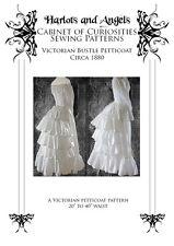 Victorian Bustle Petticoat Sewing Pattern 1880's Steampunk Bustle skirt,