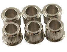 """Kluson Adapter bushings, 1/4"""" Nickel (set of 6) MB65N-L US"""