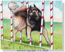 Red Belgian Shepherd Tervuren Dog Agility Sport Weave OE Art Print Berger Belge