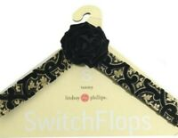 Lindsay Phillips SwitchFlops Switch Flops Straps Black Gold Tammy Small 5,6