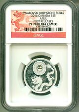 2016 S$5 Canada Swarovski Birthstone Series April Diamond FR NGC PF70 UC