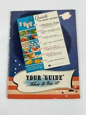 Vintage 1943 National Dairy Council 'A Guide To Good Eating' Booklet, Milk, Eggs