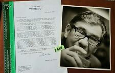 Dimitri Tiomkin to Leonid Kinskey SIGNED Letter and 8 x 10 Kinskey Photo HS