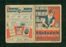 Holste's Lehrbuch bewährte Anleitung über Bielefelder Glanzplätterei 1930