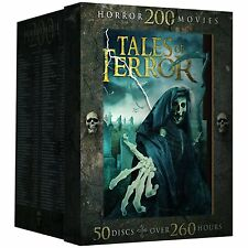 TALES OF TERROR - 200 CLASSIC HORROR MOVIES (50 disc)- DVD - Sealed Region 1