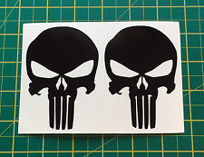 Decal Stickers Marvel Punisher BLACK fits All Flat Surfaces