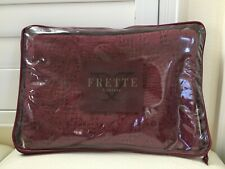 FRETTE Private Escape Gently Fashion Cushion EURO Sham Burgundy Embroidered NEW