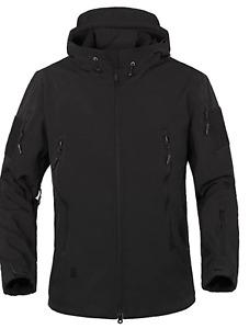 BNWT TACVASEN Military Waterproof Men's Softshell Jacket Medium Grey Waterproof
