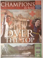 Programm Champions in Rome UEFA CL Final 2009 Manchester United - FC Barcelona