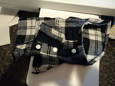 Doggie Coat in Blue Plaid, Very Light Weight, Xsmall