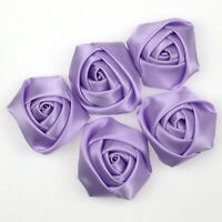 40mm Purple Satin Ribbon Rose Flower /wedding/sewing/trim/bow/craft Wedding Deco