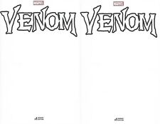Venom 2016 1 Blank sketch variant amazing spider-man carnage 1st printing x2