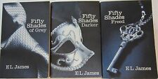 FIFTY SHADES OF GREY - FIFTY SHADES DARKER - FIFTY SHADES FREED - E L James - PB