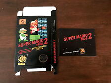 Nintendo NES SUPER MARIO BROTHERS 2 JAPANESE box and manual ONLY!!!