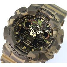 Casio G-Shock GA100CM-5A Men's Analog & Digital Woodland Camo Resin Band Watch