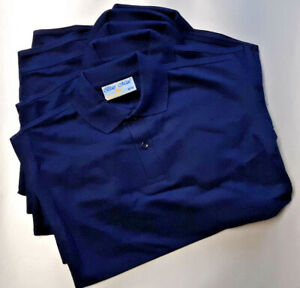 AGE 9/10 NAVY BLUE MAX BANNER PENTHOUSE POLO PLAIN 65/35 SCHOOL SPORT POLO