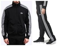 Adidas Originals Adi Firebird Mens Tracksuit Full Jacket Top Bottoms Pants Black