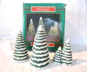 Vintage House of Lloyd Christmas Around World VILLAGE CERAMIC TREES