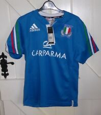ITALY 13/14 YEARS XL BOYS SMALL MANS Rugby Union Shirt BNWT CHEST 40