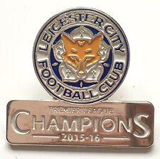 Leicester City F.C. Premier League Champions 2015/16 Enamel Pin Badge Official